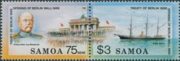 Samoa 1990 SG844-845 Treaty Of Berlin Set MNH - Samoa