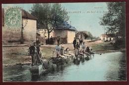 Meursanges Lavandières Au Bord De La Rivière La Bouzaise Lavandière 21200 Côte D'Or Cp Animée Arrondissement De Beaune - France