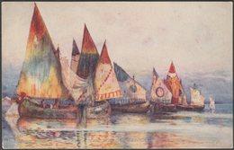 Barges Off The Piazza San Marco, Venice, C.1915 - Tuck's Oilette Postcard - Venezia (Venice)
