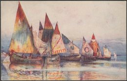Barges Off The Piazza San Marco, Venice, C.1915 - Tuck's Oilette Postcard - Venezia (Venedig)