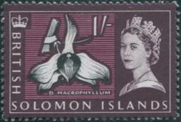 Solomon Islands 1965 SG120 1/- Orchid MLH - Islas Salomón (1978-...)