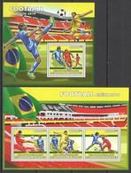 ST1343 2013 GUINEE GUINEA SPORT FOOTBALL WORLD CUP BRASIL 2014 KB+BL MNH - 2014 – Brasile
