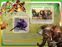 Guinea Bissau  2008   Fauna  African Elephants, Birds - Guinea-Bissau