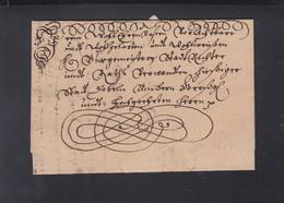 Schnörkelbrief 1677 - Allemagne