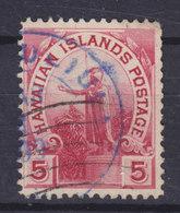 Hawaii 1894 Mi. 58    5c. King König Kamehameha I. Purple Cancel !! - Hawaii