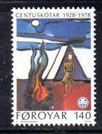 FAEROER FAROER FOROYAR 1978 - La Serie  N. 35  ***  MNH  SCOUT - Isole Faroer