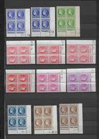CERES MAZELIN - 1945/1949 - PETIT LOT De 16 BLOCS De 4 COIN DATE DIFFERENTS ** MNH - - 1940-1949