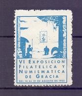 CINDERELLA ERINNOFILIA  NUMISMATICA DE GRACIA 1955   (GIUGN1900B79) - Erinnofilia