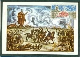 CM-Carte Maximum Card # France-1971 # Histoire #Battle , Bataille De Valmy ,Windmill,Moulin à Vent # Valmy  (Decaris) - Maximum Cards