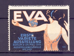 CINDERELLA ERINNOFILIA EVA ERSTE VARIETE AUSSTELLUNG 1914 (GIUGN1900B81) - Erinnofilia
