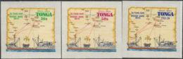 Tonga Official 1972 SGO76-O79 Merchant Marine Routes Set MNH - Tonga (1970-...)