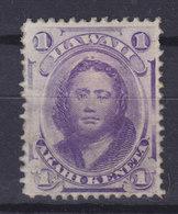 Hawaii 1871 Mi. 19c    1c. Prizessin Victoria Kamamalu MH* - Hawaii