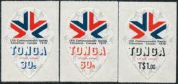 Tonga Official 1978 SGO163-O165 Commonwealth Games Edmonton Set MNH - Tonga (1970-...)