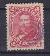 Hawaii 1886 Mi. 28    2c. King König Kalakua I. Purple 'Ring' Killer Cancel !! - Hawaii