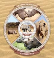 Guinea Bissau 2016  Fauna  Rhinos Rhinoceros - Guinea-Bissau