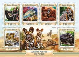 Guinea Bissau 2016 Endangered Species Fauna  Tiger Turtle - Guinea-Bissau