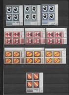 ARMOIRIES - 1946/1948 - YVERT N°755/758 - 10 BLOCS De 4 COIN DATE DIFFERENTS ** MNH - - 1940-1949