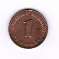 """GERMANY  1 PFENNIG 1948 """"G"""" (KM # A101) #5275 - [ 7] 1949-… : FRG - Fed. Rep. Germany"""