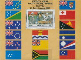 Vanuatu 1990 SG552 Independence MS MNH - Vanuatu (1980-...)