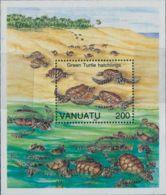 Vanuatu 1992 SG613 Turtles MS MNH - Vanuatu (1980-...)