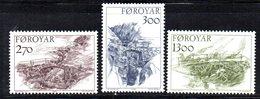 FAEROER FAROER FOROYAR 1986 - La Serie  N. 136/138  ***  MNH    (2380A)  Porti - Isole Faroer