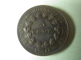 Cinq Centimes 1840 ESSAI (refonte Des Monnaies De Cuivre) Louis Philippe I - Essais