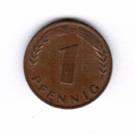 """GERMANY  1 PFENNIG 1950 """"D"""" (KM # 105) #5278 - [ 7] 1949-… : FRG - Fed. Rep. Germany"""