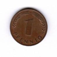"GERMANY  1 PFENNIG 1950 ""D"" (KM # 105) #5278 - [ 7] 1949-…: BRD"
