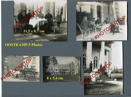 OOSTKAMP-5x PHOTOS Allemandes Non Collees-GUERRE 14-18-1WK-BELGIEN-Flandern - Oostkamp