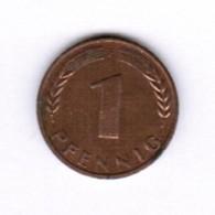 """GERMANY  1 PFENNIG 1950 """"F"""" (KM # 105) #5280 - [ 7] 1949-…: BRD"""
