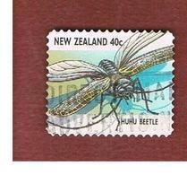 NUOVA ZELANDA (NEW ZEALAND) - SG 2104  -  1997   INSECTS: HUHU BEETLE               -  USED° - Nuova Zelanda