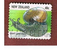 NUOVA ZELANDA (NEW ZEALAND) - SG 2105  -  1997   INSECTS:   GIANT LAND SNAIL             -  USED° - Nuova Zelanda