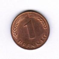 """GERMANY  1 PFENNIG 1966 """"D"""" (KM # 105) #5284 - [ 7] 1949-… : FRG - Fed. Rep. Germany"""