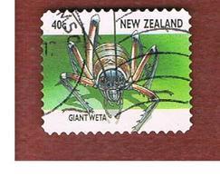 NUOVA ZELANDA (NEW ZEALAND) - SG 2106  -  1997   INSECTS:   GIANT WETA             -  USED° - Nuova Zelanda