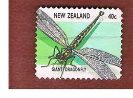 NUOVA ZELANDA (NEW ZEALAND) - SG 2107  -  1997   INSECTS:   GIANT DRAGONFLY             -  USED° - Nuova Zelanda