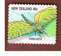 NUOVA ZELANDA (NEW ZEALAND) - SG 2110  -  1997   INSECTS:  PURIRI MOTH             -  USED° - Nuova Zelanda