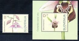 1058/ Slowenien Slovenia Slovenie 2004 Mi.No. 483 - 484 ** MNH Flora Flower Orchid Orchidee - Slowenien