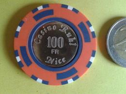 Jeton De 100F. CASINO RUHL NICE. - Casino