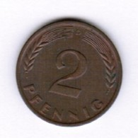"GERMANY  2 PFENNIG 1961 ""D"" (KM # 106) #5287 - [ 7] 1949-…: BRD"