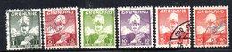 APR124 - GROENLANDIA 1938 , Sei Valori Usati    (2380A) - Isole Faroer