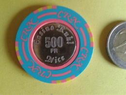 Jeton De 500F. CASINO RUHL NICE. - Casino