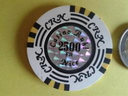 Jeton De 2500F. CASINO RUHL NICE. - Casino