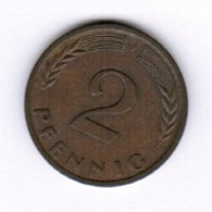 "GERMANY  2 PFENNIG 1966 ""J"" (KM # 106) #5288 - [ 7] 1949-…: BRD"