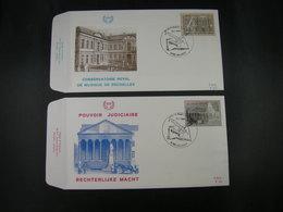 """BELG.1982 2034 & 2035 FDC's (Halanzy) : """" Conservatoire Royal De Musique & Rechterlijke Macht 150 Jaar/ans """" - 1981-90"""
