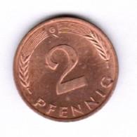"""GERMANY  2 PFENNIG 1983 """"G"""" (KM # 106a) #5290 - [ 7] 1949-… : FRG - Fed. Rep. Germany"""