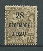 MONACO 1921 .   N° 49 . Neuf * (MH) - Monaco