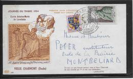 Journée Du Timbre 1954 Vieux Charmont - Poststempel (Briefe)