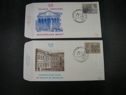 """BELG.1982 2034 & 2035 FDC's (Borgerhout) : """" Conservatoire Royal De Musique & Rechterlijke Macht 150 Jaar/ans """" - 1981-90"""