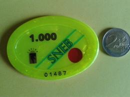 Plaque De 1000F. CASINO SNEB. N° De Série 01487 - Casino