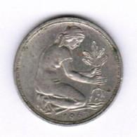 """GERMANY  50 PFENNIG 1967 """"J"""" (KM # 109.1) #5293 - [ 7] 1949-… : FRG - Fed. Rep. Germany"""